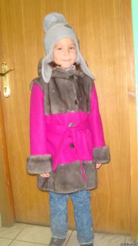 Пошив детского пальто.
