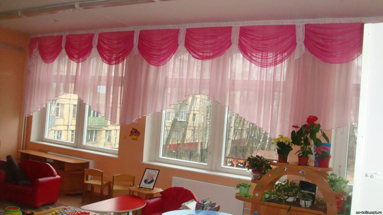 Как сшить шторы в детский сад 115